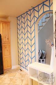 Herringbone painted wall tutorial: looks like a lot of work, but I'll
