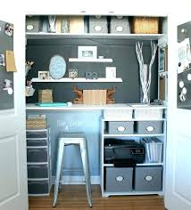 office ideas for small spaces. Closet Office Ideas Tiny Org Creative Small Space Home In Bedroom For Spaces S