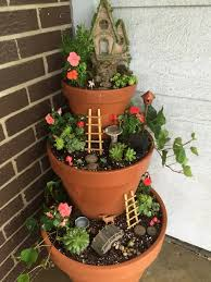 20. Tiered Front Porch Fairy Garden