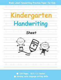 Kindergarten Handwriting Sheet Kids Handwriting Book Blank