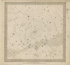 Astronomy Celestial Star Map Chart 6 South Pole Sduk 1847