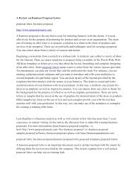 A Review On Business Proposal Letter