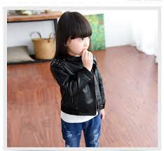 baby girls clothes spring children s clothing rivet fashion zipper up child leather outerwear kids blazers girls jacket