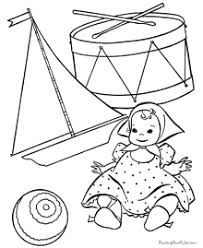 Small Picture Lots of Christmas Toys Coloring Pages