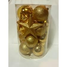 Glaskugel Set Mit Sternen Light Gold 8 12cm