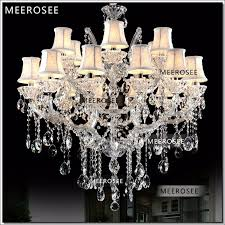 18 lamps clear crystal chandelier light fixture hotel chrome chandelier lights candle kitchen cristal pendentes of living room rope chandelier gold