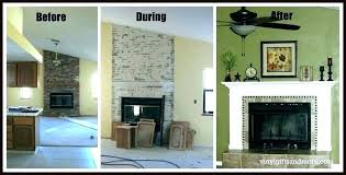 cost to install stone veneer on fireplace refacing fireplace with stone veneer faux surround installation cost