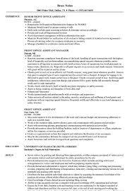 Office Job Resume Sample Front Office Assistant Resume Samples Velvet Jobs