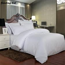 2019 new design pure white stripes 5 star hotel bedding set 100 cotton duvet cover quilt cover not include bed sheet pillowcases from isaaco