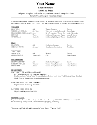 Dance Resume Dance Resume Template For College Resume For Study Audition Resume 4