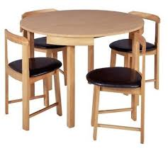 small round dining table 41 105 cm diameter oak effect with 4 chairs used