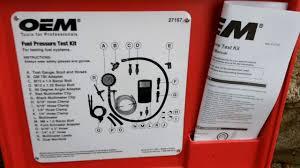oem 27167 fuel pressure test kit autozone