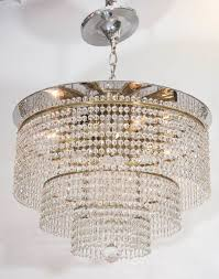 swarovski crystal beads for a vintage waterfall semi flush mount chandelier produced in italy circa 1950s