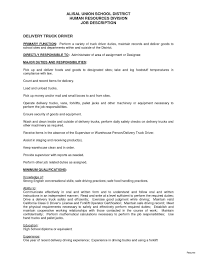 Delivery Driver Resume Truck Driver Resume Sample Free Best Of Truck Driver Resume Sample 46