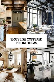 36 Stylish And Timeless Coffered Ceiling Ideas For Any Room ...