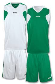 Basketball Jersey Design White Green Teamwear Joma Reversible White Green Medium