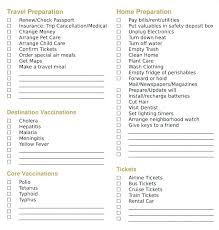 Trip Checklist Template Family Vacation Planning Checklist Template