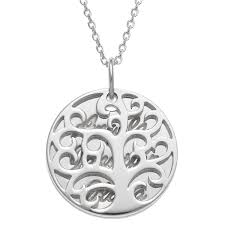 personalized planet jewelry personalized women s sterling silver or gold over silver family tree name necklace 18 com