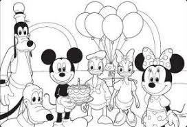 Small Picture Happy Birthday Coloring Pages Mickey Mouse Disney Happy Birthday