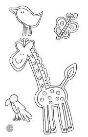 Disegno Da Colorare Gratis Bambini Animali Giraffa Mamma Felice Con