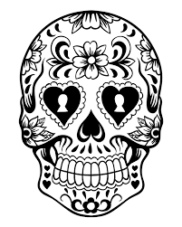 Small Picture Printable Day of the Dead Sugar Skull Coloring Page 4