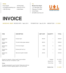 doc 513666 example of invoice form template for sample doc 513666 example of invoice form template for sample