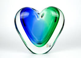 michele onesto murano large sculpture submerged heart vase 4 8 kg