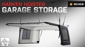 jeep wrangler harken hoister garage storage 4 point lift system 1987 2016 yj tj jk review