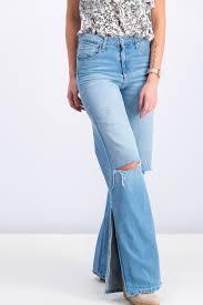 Shop Stradivarius Womens Wide Leg Jeans Wash Blue For