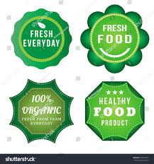 Food Product Label Design Template Fresh Food Product Vintage Labels Template Stock Vector