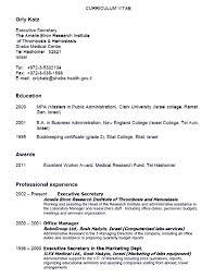 Resume Secretary Resume Duties