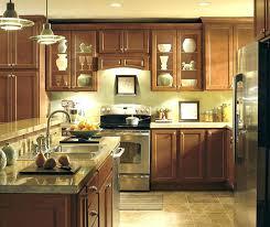 cherry cranberry diamond prelude cabinets hanson contemporary kitchen