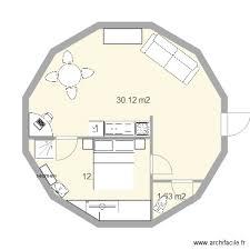 maison ronde 1chambre 50m2 plan 3 pi ces 44 m2 dessin par zionjah