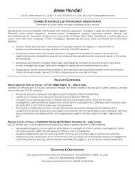Police Sample Resume Ideas Of Law Enforcement Resume Samples With Fbi Police Officer 10
