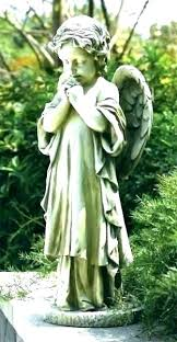 guardian angel garden statue angels statues for the praying lawn ornaments decoration home depot outdoor decorative guardian angel garden