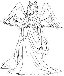 Angel Coloring Pages For Preschool Dark Sheet Chronicles Network