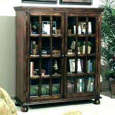 white bookcases with glass doors bookcase ameriwood home aaron lane sliding boo