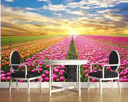 Blume, 3D wandbild ...