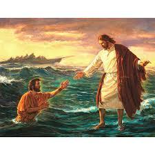 Znalezione obrazy dla zapytania jezus chodzi po wodzie
