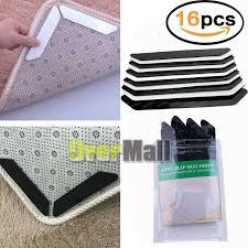 details about 16pc rug gripper anti curling rug non slip pad carpet place holder grip skid mat
