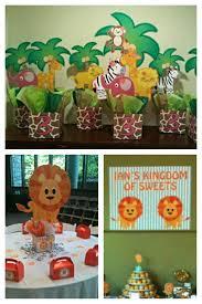 Jungle Safari Zoo Birthday Party Centerpieces. Playpatterns.net