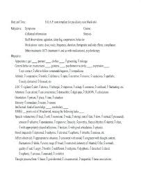 Soap Note Template Phrase Physical Therapy Notes Example