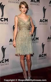 Taylor Swift Short V Neckline Gold Sequin Cocktail Dress Party.