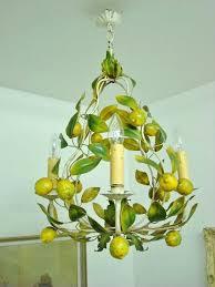 antique fl toleware chandelier very rare luscious lemons vintage tole chandelier light lamp ideas for graduation party favors