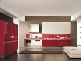 White And Red Kitchen Black And Red Kitchen Home Style Design With Shiny L Shape Base