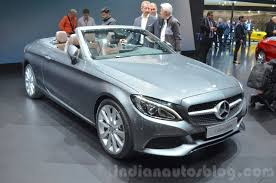 Mercedes C-Class Cabriolet front three quarters at the 2016 Geneva ...