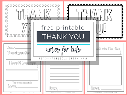 Printable Thank You Cards Printable Thank You Cards For Kids The Kitchen Table Classroom