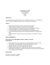 Nicu Nurse Resume
