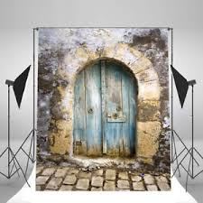 image is loading 5x7 old door brick wall vinyl prop backdrops