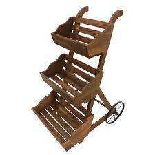 Leigh Country 3-Tier Garden Cart Wood Planter-TX 93966 - The Home Depot